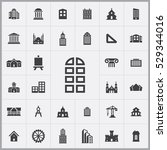 architecture icons universal...   Shutterstock . vector #529344016
