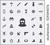 army icons universal set for... | Shutterstock . vector #529344076