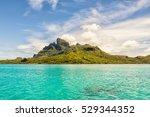 beautiful view of otemanu...   Shutterstock . vector #529344352