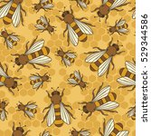 collection of bees and... | Shutterstock .eps vector #529344586