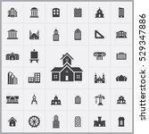 architecture icons universal... | Shutterstock . vector #529347886