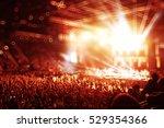 crowd at a rock concert... | Shutterstock . vector #529354366