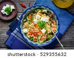 tabbouleh salad with tomato ... | Shutterstock . vector #529355632