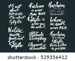 fashion changes  but style... | Shutterstock .eps vector #529356412