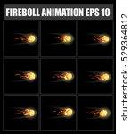 vector fireball animation....   Shutterstock .eps vector #529364812