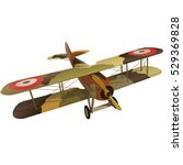 biplane from world war with... | Shutterstock .eps vector #529369828
