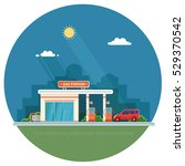 gas station. oil  fueling... | Shutterstock .eps vector #529370542