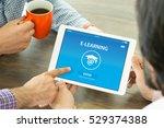 e learning concept on screen | Shutterstock . vector #529374388