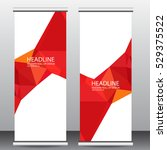 roll up business brochure flyer ... | Shutterstock .eps vector #529375522