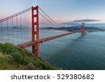 beautiful sunset and golden... | Shutterstock . vector #529380682