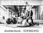 healthy young women doing...   Shutterstock . vector #529382452
