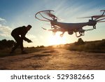 drone toy adult helicopter... | Shutterstock . vector #529382665