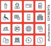 set of 16 traveling icons. can...