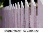 Close Up Wooden Fence Color Pink