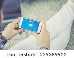 e book concept on screen | Shutterstock . vector #529389922