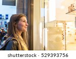 woman shopping in london and... | Shutterstock . vector #529393756