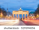 berlin brandenburg gate at... | Shutterstock . vector #529394056