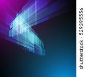 techno geometric vector modern... | Shutterstock .eps vector #529395556