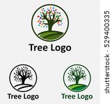 tree with leaves nature logo...   Shutterstock .eps vector #529400335