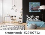 cozy creative studio apartment... | Shutterstock . vector #529407712