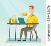 caucasian businessman working... | Shutterstock .eps vector #529413076