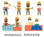 electrician at work....   Shutterstock .eps vector #529415146