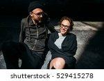 the lovely couple in love lying ... | Shutterstock . vector #529415278