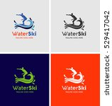 water ski logo silhouette with...   Shutterstock .eps vector #529417042