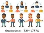 two businessmen shaking hands.... | Shutterstock .eps vector #529417576