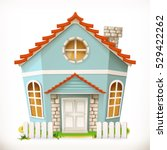 house  home. 3d vector icon | Shutterstock .eps vector #529422262