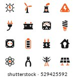 electricity web icons for user... | Shutterstock .eps vector #529425592
