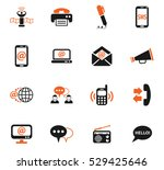 communication web icons for... | Shutterstock .eps vector #529425646