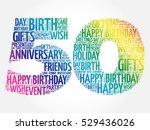 happy 50th birthday word cloud... | Shutterstock .eps vector #529436026