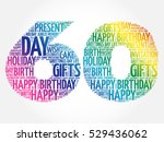 happy 60th birthday word cloud... | Shutterstock .eps vector #529436062