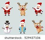 christmas santa claus reindeer  ...   Shutterstock . vector #529437106