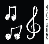 a set of music notes icon. hand ...