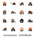 house type web icons for user... | Shutterstock .eps vector #529438186