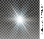 vector transparent sunlight... | Shutterstock .eps vector #529439482