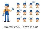 set of auto mechanic character... | Shutterstock .eps vector #529441552