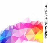 colorful polygonal mosaic... | Shutterstock .eps vector #529442032
