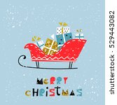merry christmas happy new year... | Shutterstock .eps vector #529443082