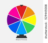 wheel of fortune  lucky icon. ...   Shutterstock . vector #529445008