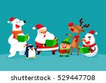 set of christmas characters... | Shutterstock .eps vector #529447708