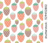 simple strawberry seamless... | Shutterstock . vector #529452802