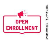 Open Enrollment. Badge With...