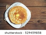 stack of pancakes on a plate...   Shutterstock . vector #529459858