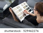 arranging home shopping...   Shutterstock . vector #529462276