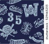 vintage baseball badges  vector ... | Shutterstock .eps vector #529465255