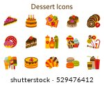 sweet food flat icons set.... | Shutterstock .eps vector #529476412