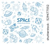 Abstract Space Background With...